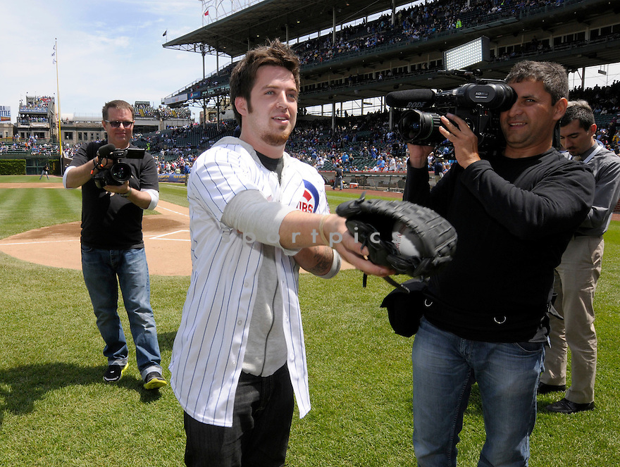 American Idol finalist and Chicago area native,  LEE DEWYZE,  visits the Chicago Cubs at Wrigley Field. He was there to throw out the first pitch before the Pittsburgh Pirates at the Chicago Cubs on May 14 , 2010.  ..