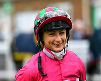 Jockey Nicola Currie  during Evening Racing at Salisbury Racecourse on 11th June 2019