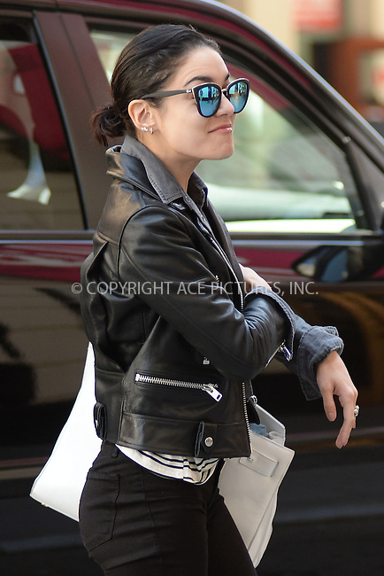 WWW.ACEPIXS.COM<br /> May 2, 2015 New York City<br /> <br /> Vanessa Hudgens arrives to a performance of Gigi on Broadway in New York City on May 2, 2015.<br /> <br /> By Line: Kristin Callahan/ACE Pictures<br /> ACE Pictures, Inc.<br /> tel: 646 769 0430<br /> Email: info@acepixs.com<br /> www.acepixs.com