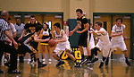 Manogue's James Sandoval competes against Galena at Manogue High School in Reno, Nev., on Tuesday, Feb. 11, 2014. Manogue won 66-59.<br /> Photo by Cathleen Allison