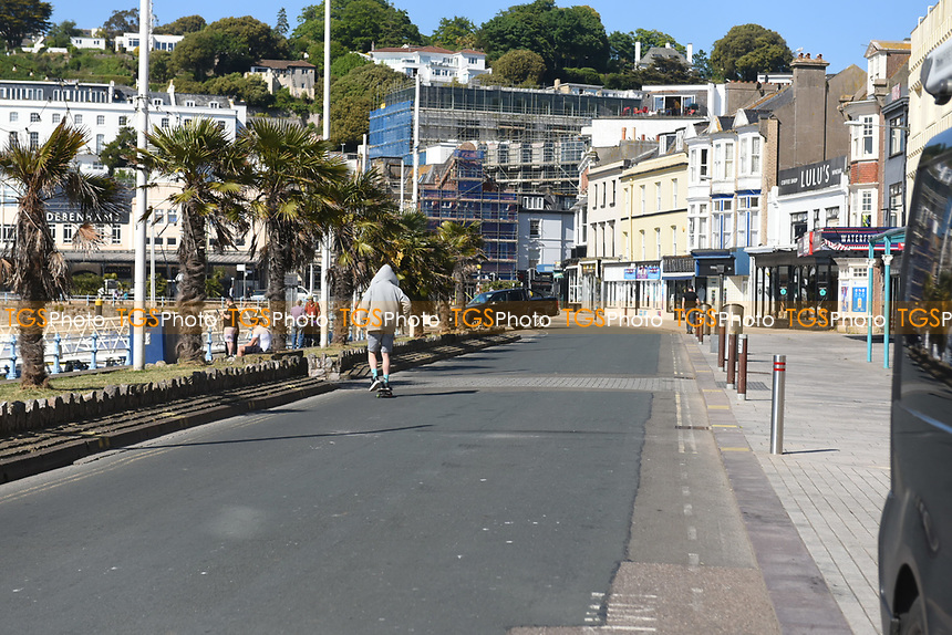 Torquay harbourside remains deserted during the COVID-19 pandemic and lockdown