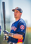 4 March 2016: Houston Astros catcher Jason Castro awaits his turn in the batting cage prior to a Spring Training pre-season game against the St. Louis Cardinals at Osceola County Stadium in Kissimmee, Florida. The Astros defeated the Cardinals 6-3 in Grapefruit League play. Mandatory Credit: Ed Wolfstein Photo *** RAW (NEF) Image File Available ***