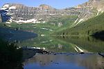 CAMERON LAKE, WATERTON NATIONAL PARK, ALBERTA, CANADA , MOUNT CUSTER