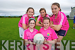 Evelyn Riordan, Libby Daly, Rachel Murphy, Ciara Kearney and Aoife Cronin enjoying the Farranfore GAA,  summer Cul Camp on Monday