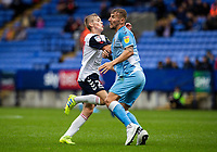 Bolton Wanderers' Ronan Darcy (left) is blocked by Coventry City's Kyle McFadzean <br /> <br /> Photographer Andrew Kearns/CameraSport<br /> <br /> The EFL Sky Bet Championship - Bolton Wanderers v Coventry City - Saturday 10th August 2019 - University of Bolton Stadium - Bolton<br /> <br /> World Copyright © 2019 CameraSport. All rights reserved. 43 Linden Ave. Countesthorpe. Leicester. England. LE8 5PG - Tel: +44 (0) 116 277 4147 - admin@camerasport.com - www.camerasport.com