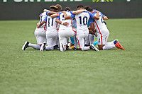 Portland, OR - Saturday August 12, 2017: Team Huddle during friendly match between the USMNT U17's and Chile u17's at Providence Park in Portland, OR.