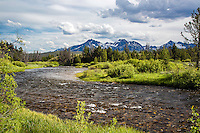 Valley Creek, Stanley Idaho.  This picturesque stream winds its way to Stanley Idaho from the west along the base of the Sawtooth Range of central Idaho.