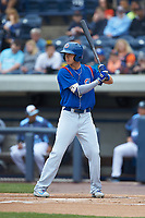 Jared Young (16) of the South Bend Cubs at bat against the West Michigan Whitecaps at Fifth Third Ballpark on June 10, 2018 in Comstock Park, Michigan. The Cubs defeated the Whitecaps 5-4.  (Brian Westerholt/Four Seam Images)