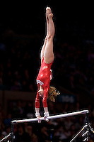 3/1/08 - Photo by John Cheng -  Nastia Liukin of the United States performs on the uneven bars at the Tyson American Cup in Madison Square GardenPhoto by John Cheng - Tyson American Cup 2008 in Madison Square Garden, New York.Nastia Liukin