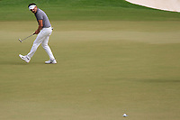 Mike Lorenzo-Vera (FRA) on the 15th green during the 3rd round of the DP World Tour Championship, Jumeirah Golf Estates, Dubai, United Arab Emirates. 17/11/2018<br /> Picture: Golffile | Fran Caffrey<br /> <br /> <br /> All photo usage must carry mandatory copyright credit (&copy; Golffile | Fran Caffrey)