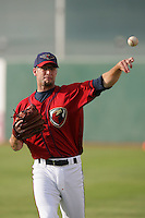 April 17, 2010: Patrick Urckfitz of the Lancaster JetHawks before game against the Rancho Cucamonga Quakes at Clear Channel Stadium in Lancaster,CA.  Photo by Larry Goren/Four Seam Images