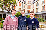 Shawn Carey from St Michael's College, Listowel with Keenan Daly and Robert O'Brien from St Brendan's Killarney, attended the Kerry Comhairle na nOg on Friday in the Fels Point Hotel in Tralee.