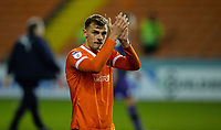 Blackpool's Kiernan Dewsbury-Hall applauds the fans after the match<br /> <br /> Photographer Alex Dodd/CameraSport<br /> <br /> The EFL Sky Bet League One - Blackpool v Tranmere Rovers - Tuesday 10th March 2020 - Bloomfield Road - Blackpool<br /> <br /> World Copyright © 2020 CameraSport. All rights reserved. 43 Linden Ave. Countesthorpe. Leicester. England. LE8 5PG - Tel: +44 (0) 116 277 4147 - admin@camerasport.com - www.camerasport.com