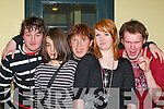 Rocking the night away at the KDYS battle of the bands in the KDYS, Killarney on Saturday night were l-r: Martin Murphy, Luke Mirtschink, Andre McGowan, Michelle Leonard and Conor Hooper   Copyright Kerry's Eye 2008