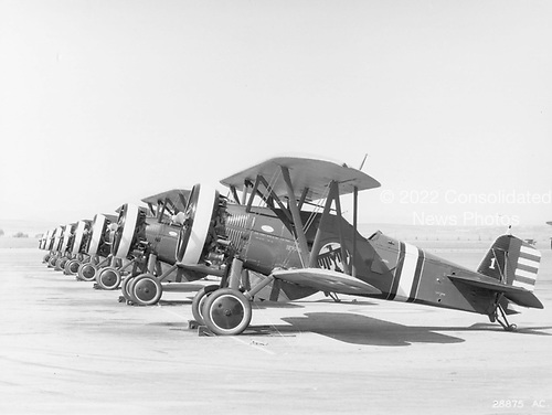 The United States Army Air Corps received, between 1929 and 1932, a total of 366 Boeing P-12 aircraft..Credit: U.S. Air Force via CNP