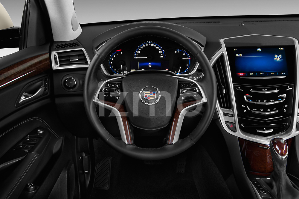 Steering wheel view of a 2013 Cadillac SRX