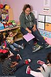 Education Preschool Head Start Early  Learn 2s Program female teacher and children in class circle time