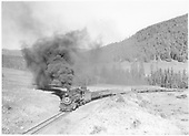 D&amp;RGW #493 with eastbound freight on Cumbres Pass.<br /> D&amp;RGW  Cumbres Pass, CO  Taken by Roth, Jordan R
