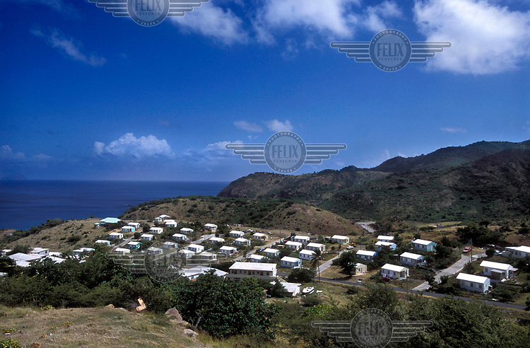 Lookout, the new town built in the north to house those evacuated from the south of the island which was abandoned following the eruption of the Soufriere Hills volcano in 1995. <br /> <br /> The volcano began erupting in July 1995, and remained active through the subsequent decade. Up to 7,000 of the 10,500 inhabitants have been evacuated from the island, while other residents have been moved to the northernmost areas. The southern region affected by the eruption is designated out of bounds to everyone except scientists.