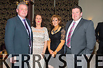 Tom O'Connell, Ann O'Connell, Mary Kelly, Eamon Kelly enjoying the Kerry Hurling Social at Fels Point Hotel on Saturday