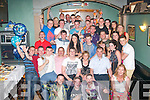 HAPPY 18TH: Graham Counihan, Lahern,Tralee (seated centre) celebrated his 18th birthday with family and friends in Dowdies bar, Boherbue, Tralee on Saturday last..
