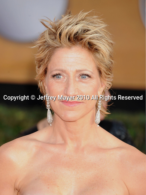 LOS ANGELES, CA. - January 23: Edie Falco arrives at the 16th Annual Screen Actors Guild Awards held at The Shrine Auditorium on January 23, 2010 in Los Angeles, California.