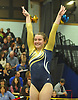 Amanda Ferraro of Bethpage completes her performance on the balance beam during the Nassau County varsity gymnastics team championship at Berner Middle School in Massapequa on Thursday, Feb. 15, 2018.
