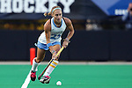 17 October 2014: North Carolina's Abby Frey. The Duke University Blue Devils hosted the University of North Carolina Tar Heels at Jack Katz Stadium in Durham, North Carolina in a 2014 NCAA Division I Field Hockey match. UNC won the game 1-0.