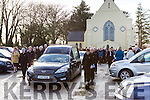 Eileen O'Sullivan Cronin is given a guard of honour by the Bowling club as she leaves St Marys church Beaufort on Wednesday
