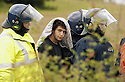 06/07/2005         Copyright Pic : James Stewart.File Name : sct_jspa24 g8 stirling.POLICE ARREST PROTESTERS AFTER THEY BLOCKED THE M9 MOTORWAY AT CAMBUSBARRON NEAR STIRLING....Payments to :.James Stewart Photo Agency 19 Carronlea Drive, Falkirk. FK2 8DN      Vat Reg No. 607 6932 25.Office     : +44 (0)1324 570906     .Mobile   : +44 (0)7721 416997.Fax         : +44 (0)1324 570906.E-mail  :  jim@jspa.co.uk.If you require further information then contact Jim Stewart on any of the numbers above.........