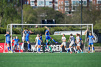 Boston, MA - Sunday May 07, 2017: Boston Breakers and North Carolina Courage during a regular season National Women's Soccer League (NWSL) match between the Boston Breakers and the North Carolina Courage at Jordan Field.