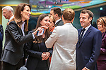 BRUSSELS - BELGIUM - 12 December 2019 -- EU-Summit with Heads of State - European Council meeting - Presidency of Finland. -- Sanna Marin (2nd le), Prime Minister of Finland during her first EU-Summit as PM with Sophie Wilmès, Prime Minister of Belgium, Mette Frederiksen, Prime Minister of Denmark and Emmanuel Macron President of France. -- PHOTO: Juha ROININEN / EUP-IMAGES
