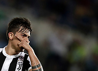 Calcio, Football - Juventus vs Lazio Italian Super Cup Final  <br /> Juventus' Paulo Dybala celebrates after scoring during the  Italian Super Cup Final football match between Juventus and Lazio at Rome's Olympic stadium, on August 13, 2017.<br /> UPDATE IMAGES PRESS/Isabella Bonotto
