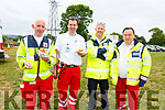 The Red Cross Volunteers from the Tralee Branch at the Castleisland Races on Sunday. L-r, John McKiernan, Paul Mountgomery, Ralph Bates and Liam Mulvihill.