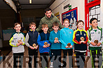 Duagh/Lyre Community Games Awards: Duagh/Lyre community games participants in U/!0 Soccer (Silver Medalists) who were presented with their awards on Friday night last at Duagh National School by Kerry football star Anthony Maher. L-R: Ronan Sheridan, Ryan Stack, Timmy O'Connell, Oran Doorley, Gavin Dillon, Dylan Buckley & Joseph Maher & Anthony Maher at back.