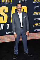 """LOS ANGELES, CA: 27, 2020: Brandon Scales at the world premiere of """"Spenser Confidential"""" at the Regency Village Theatre.<br /> Picture: Paul Smith/Featureflash"""