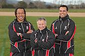 Steelers Coaches Tana Umaga, Milton Haig and Steve Jackson.