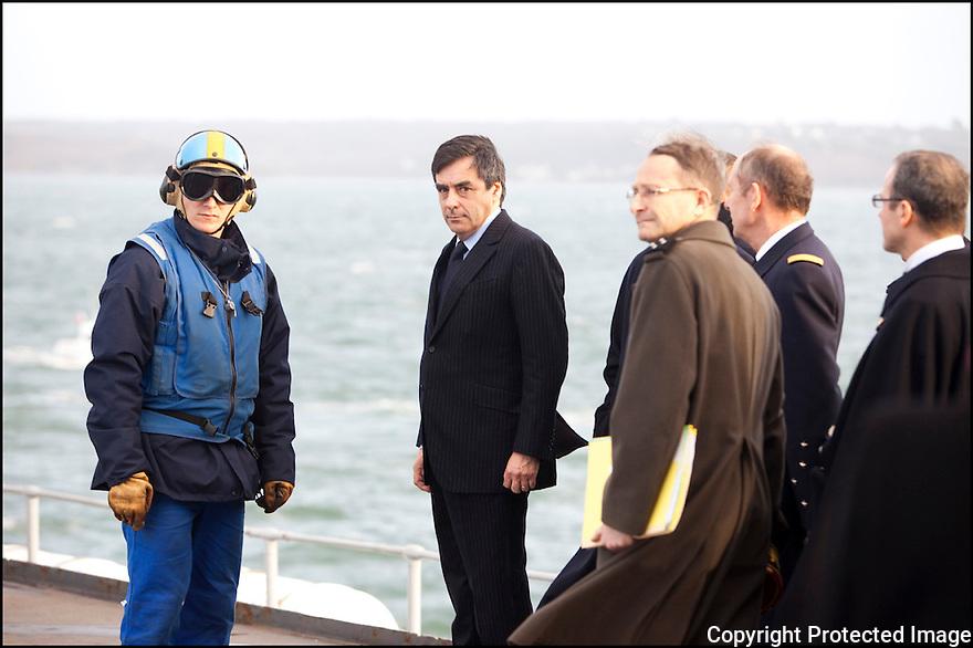 D&eacute;cembre 2009/ Brest/ Le grand d&eacute;part.<br /> Visite du 1er ministre Mr Fillon