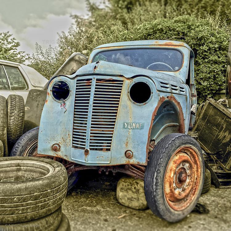 1950's truck in a scrap yard
