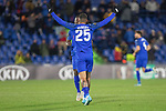 GETAFE, SPAIN - DECEMBER 12: Getafe CF's  Kenedy celebrates goal during the UEFA Europa League group C match between Getafe CF and FK Krasnodar at Coliseum Alfonso Perez on December 12, 2019 in Getafe, Spain. <br /> (ALTERPHOTOS/David Jar)