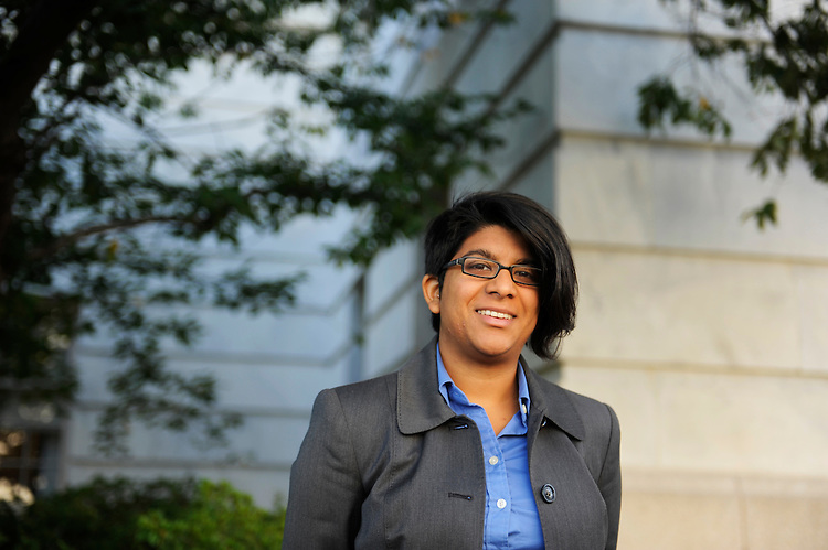 UNITED STATES - OCTOBER 06:  Fayzan Gowani, from the office of Rep. Mike Honda, D-Calif., is photographed outside of Longworth Building.  (Photo By Tom Williams/Roll Call)
