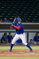 AZL Cubs first baseman Luis Hidalgo (18) at bat against the AZL Giants on September 6, 2017 at Sloan Park in Mesa, Arizona. AZL Giants defeated the AZL Cubs 6-5 to even up the Arizona League Championship Series at one game a piece. (Zachary Lucy/Four Seam Images)