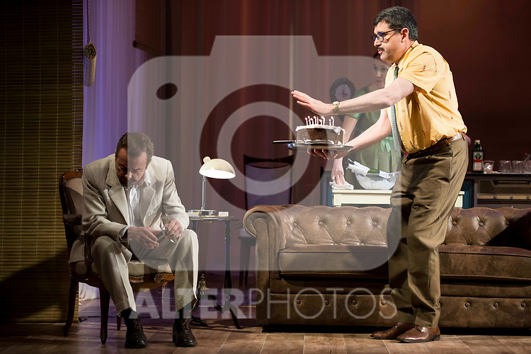 "Juan Diego and Jose Luis Patiño during theater play of ""Una gata sobre un tejado de Cinc caliente"" at Reina Victoria theater in Madrid, Spain. March 15, 2017. (ALTERPHOTOS/BorjaB.Hojas)"