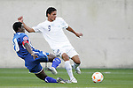 20 March 2008: Hendry Thomas (HON) (20) tackles the ball away from Jairo Arreola (GUA) (9). The Honduras U-23 Men's National Team defeated the Guatemala U-23 Men's National Team 6-5 on penalty kicks after a 0-0 overtime tie at LP Field in Nashville,TN in a semifinal game during the 2008 CONCACAF Men's Olympic Qualifying Tournament. With the penalty kick victory, Honduras qualifies for the 2008 Beijing Olympics.