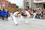 Capoeira Performers at the Samba Festival on West Street...(Photo credit should read Jenny Matthews www.newsfile.ie)....This Picture has been sent you under the conditions enclosed by:.Newsfile Ltd..The Studio,.Millmount Abbey,.Drogheda,.Co Meath..Ireland..Tel: +353(0)41-9871240.Fax: +353(0)41-9871260.GSM: +353(0)86-2500958.email: pictures@newsfile.ie.www.newsfile.ie.