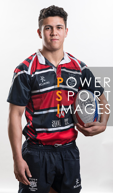 Hong Kong Junior Squad team member Vince Young poses during the Official Photo Session Day at King's Park Sports Ground ahead the Junior World Rugby Tournament on 25 March 2014. Photo by Andy Jones / Power Sport Images