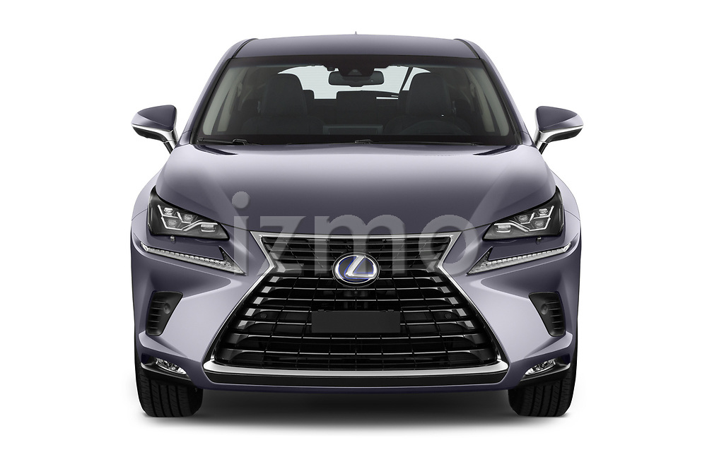 Car photography straight front view of a 2018 Lexus NX Executive Line 5 Door SUV