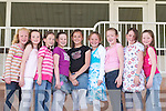 YOUNG: Young race goers who were at Listowel Races on Sunday, l-r: Ciara Gallagher, Anna McGuire, Kayleigh Maxwell, Elissa Quinn, Clodagh Leahy, Siun Healy, Shannon Canty, Eimear Healy and Shannon OHanlon (Listowel). .