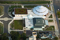 aerial photograph green roof Curious Kids' Discovery Zone Museum, St. Joseph, Michigan