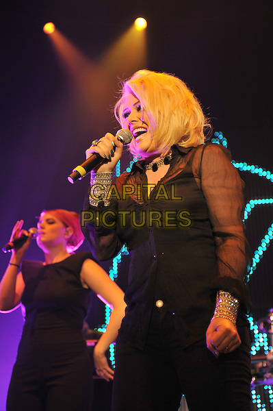 Kim Wilde.British Electric Foundation (B.E.F) at the Roundhouse, Camden, London, England..15th October 2011.performing performance live in stage on concert music gig half length black sheer blouse singing .CAP/MAR.© Martin Harris/Capital Pictures.